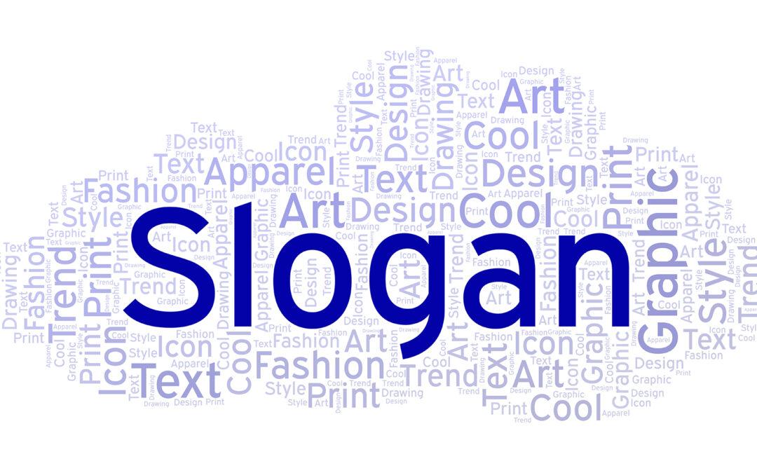 Un slogan, gadget ou signature de marque ?